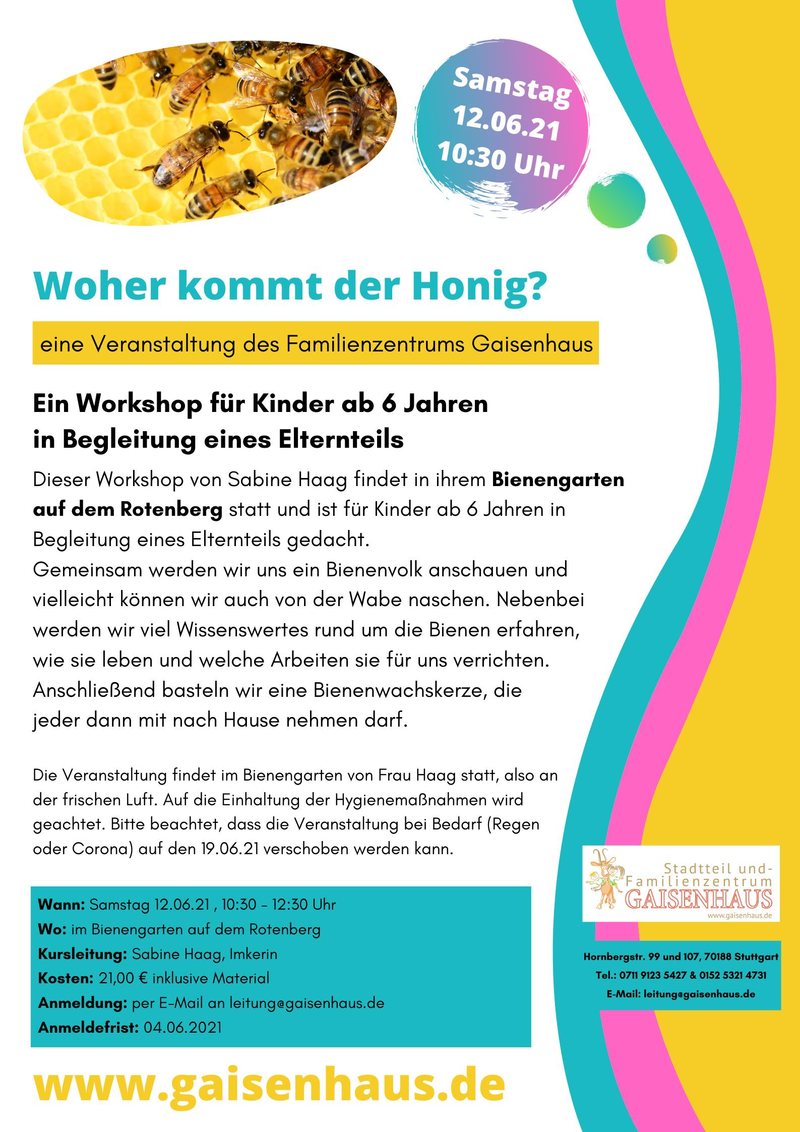 Plakat Bienenworkshop