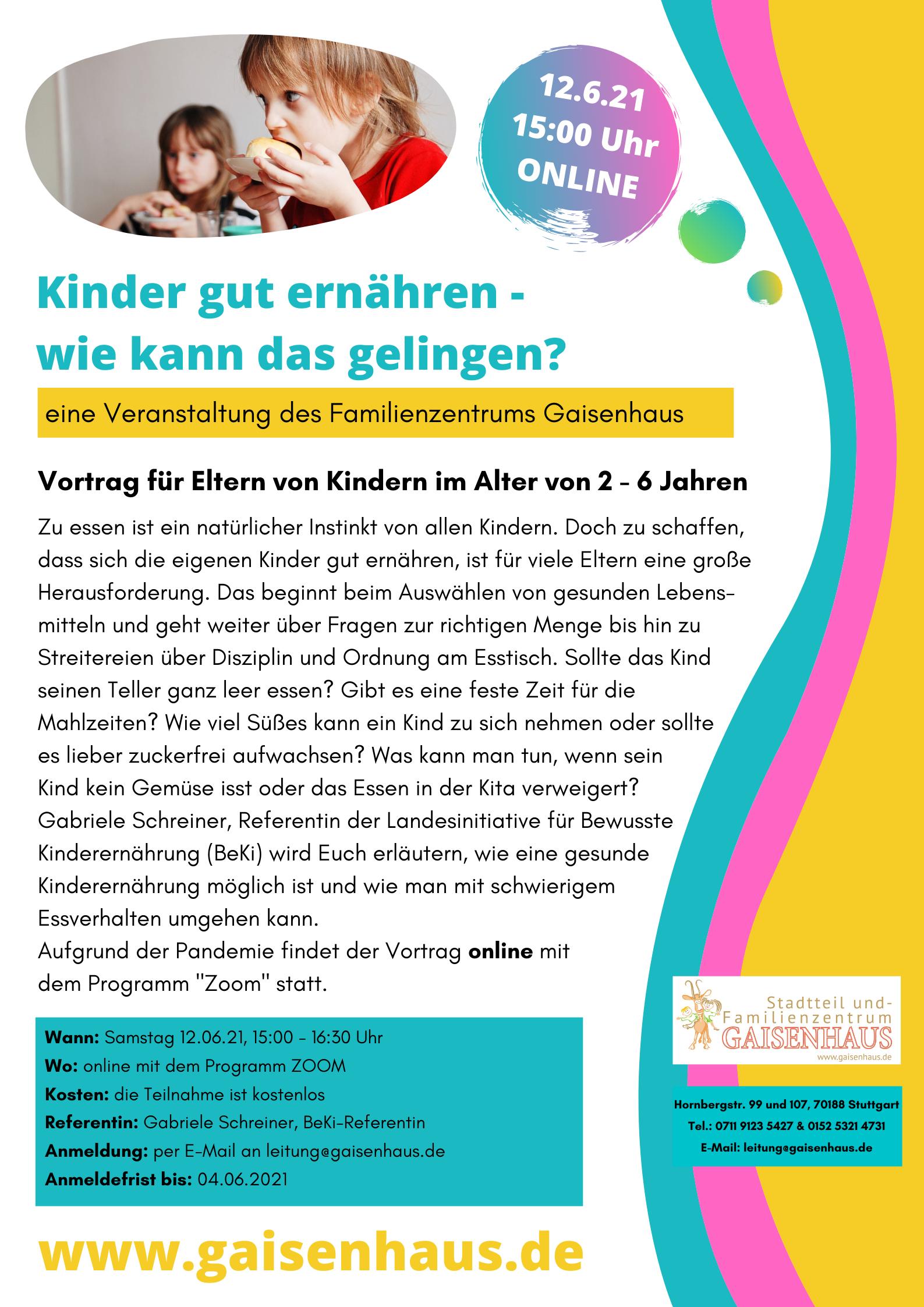 Plakat gute Ernährung für Kinder 12.06.2021