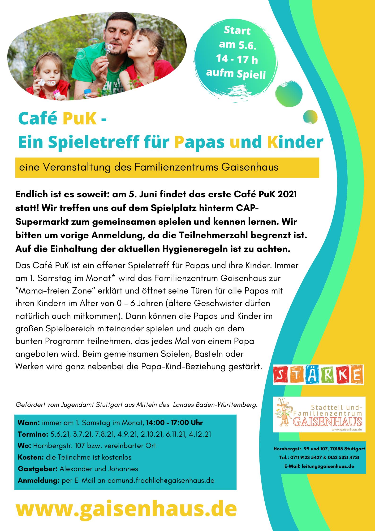 Plakat Café PuK 5.6.21